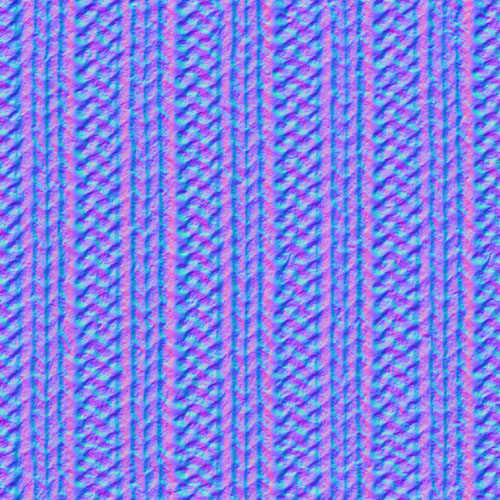 normal map of fabric texture