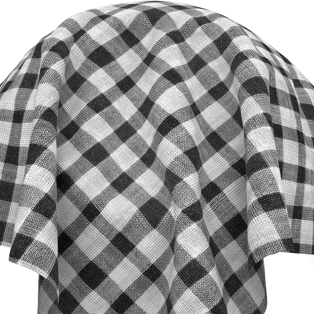 black and white checkred fabric texture