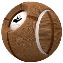 Bamboo wall decorative seperator