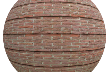 levelled red brick texture