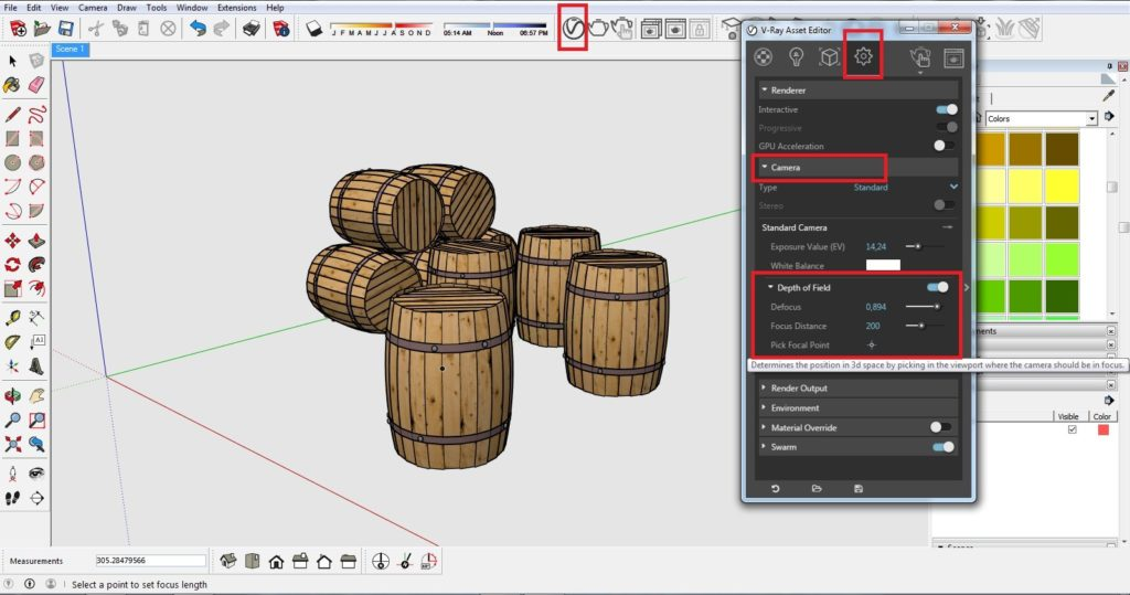 How to get depth of field effect 01 1024x539 - blog - vray materials, vray, depth of field