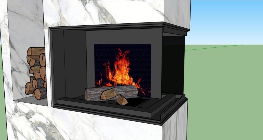 How to make a fire in the fireplace 03 1024x547 - blog - vray tutorial, vray fire, sketchup vray tutorial