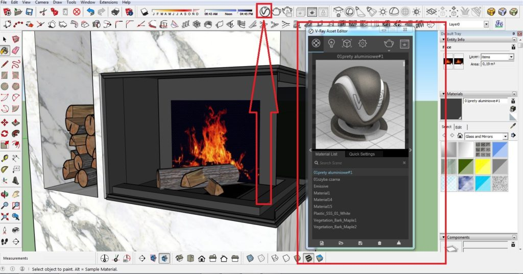 How to make a fire in the fireplace 04 1024x537 - blog - vray tutorial, vray fire, sketchup vray tutorial
