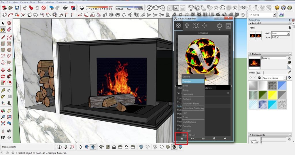 How to make a fire in the fireplace 05 1024x538 - blog - vray tutorial, vray fire, sketchup vray tutorial