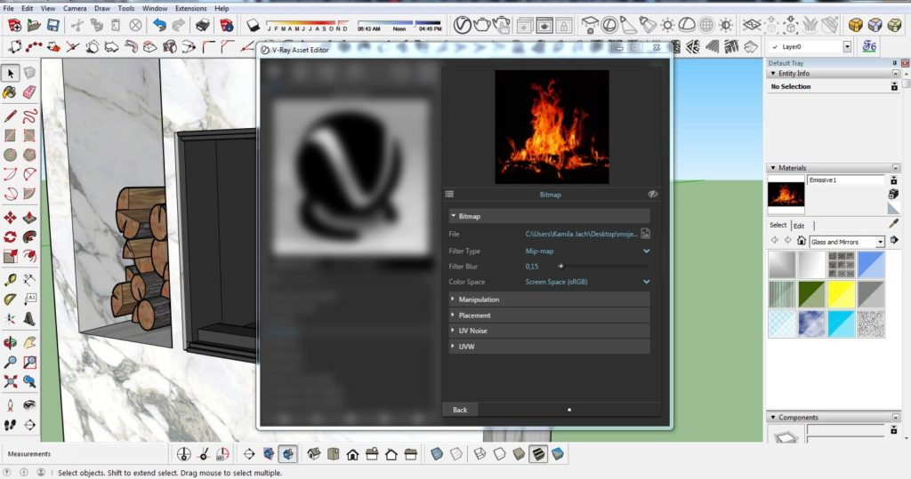 How to make a fire in the fireplace 10 1024x539 - blog - vray tutorial, vray fire, sketchup vray tutorial