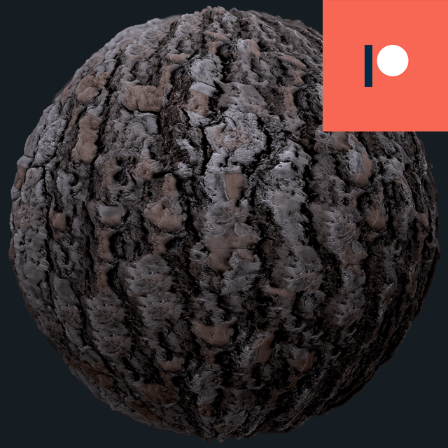 seamless tree bark brown